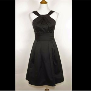 DAVID'S BRIDAL Black satin sleeveless formal dress